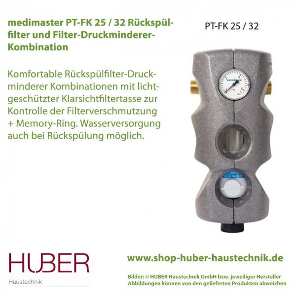 PT-FK 25 / 32 Rückspülfilter und Filter-Druckminderer-Kombination