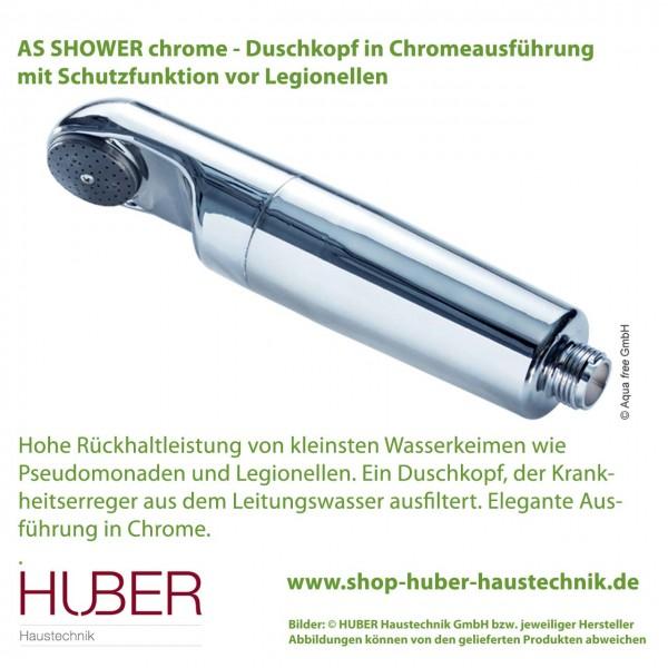 Chrome-Duschkopf mit Schutz vor Legionellen - AS SHOWER chrome