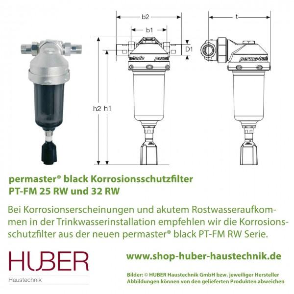 PT-FM 25 RW / 32 RW  permaster® black Korrosionsschutz-Filter