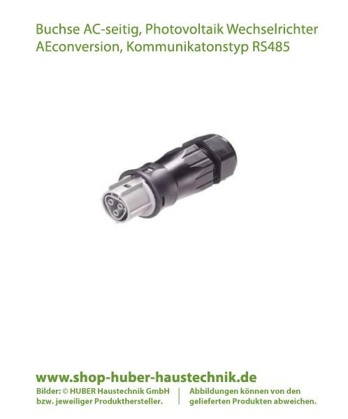 Buchse für Verkabelung Photovoltaik Wechselrichter der Reihe AEconverion RS485