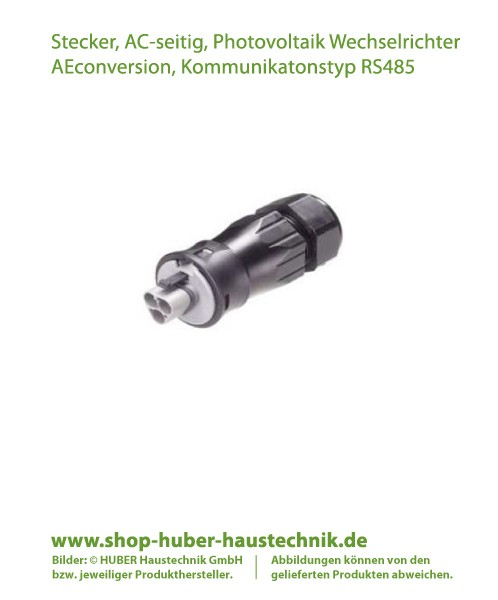 Stecker, 3-polig, Wechselstrom-seitig (AC-seitig), Zubehör für Photovoltaik Wechselrichter