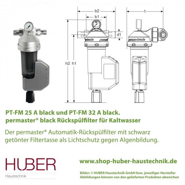 PT-FM 25 A bzw. 32 A Automatik permaster® Rückspülfilter