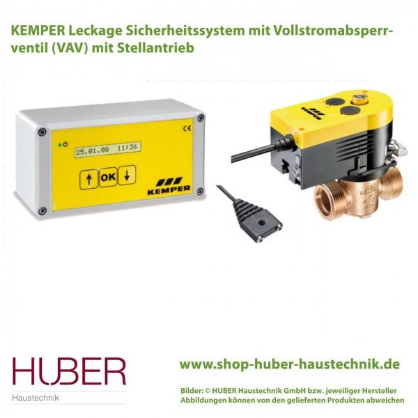 KEMPER Leckage Sicherheitssystem mit VAV mit Stellantrieb und Wasserfühler