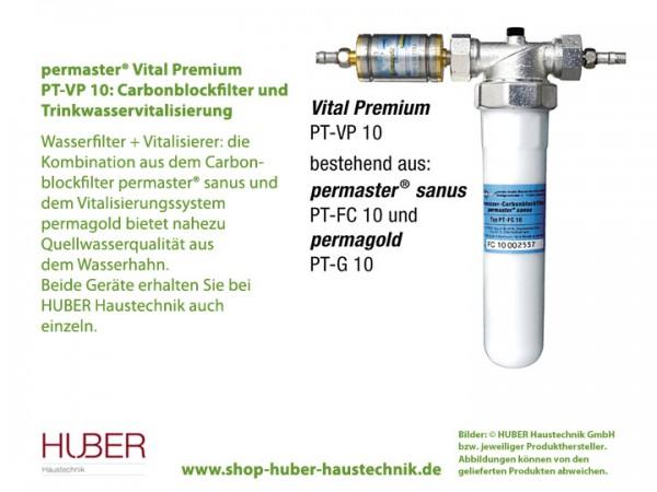 permaster® Vital Premium: Carbonblockfilter und Trinkwasservitalisierung, hier Vitalisierer permagold PT-G 10