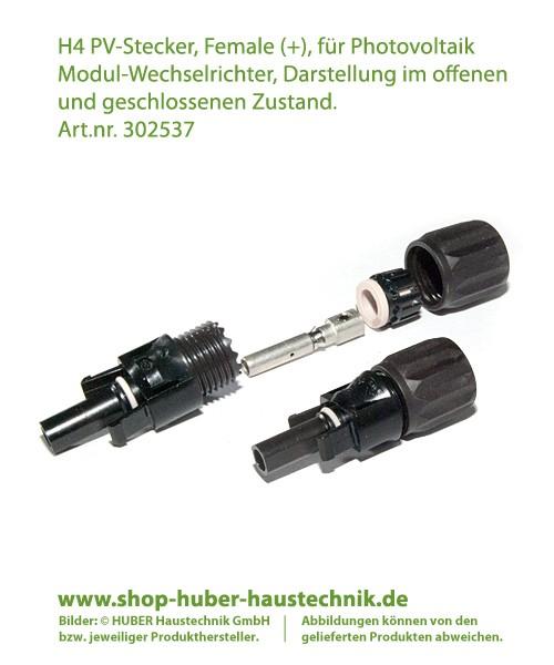 Helios H4 Amphenol Stecker, Female (+) für Photovoltaik Wechselrichter