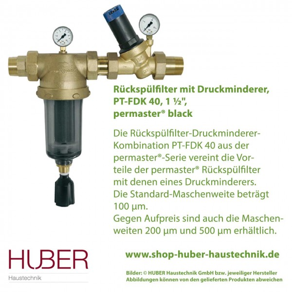 Filter-Druckminderer-Kombination permaster® black