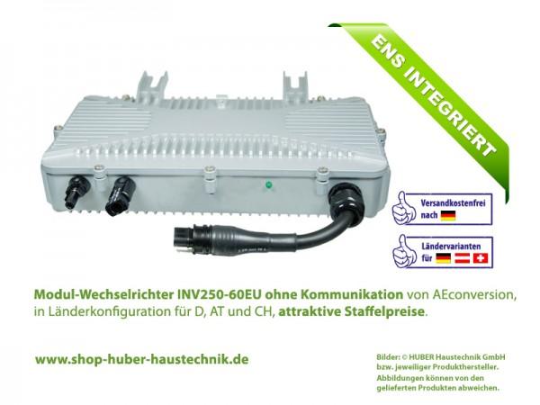 Modul-Wechselrichter INV250-60 EU ohne Kommunikation, 250 Watt, 60 Volt, 50 Hz, im Haustechnik-Shop von HUBER