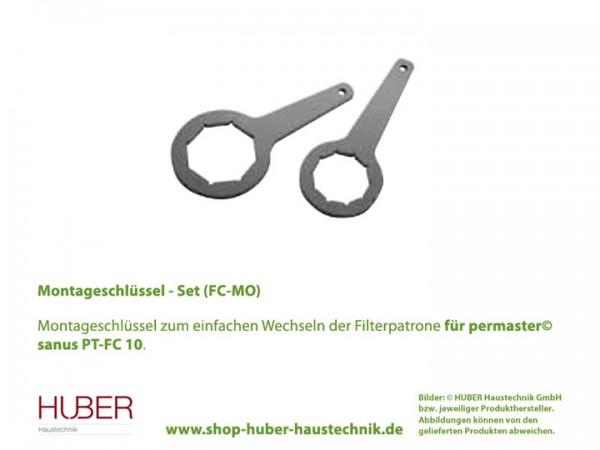 Montageschlüssel Set für Filterwechsel am permaster© sanus PT-FC 10