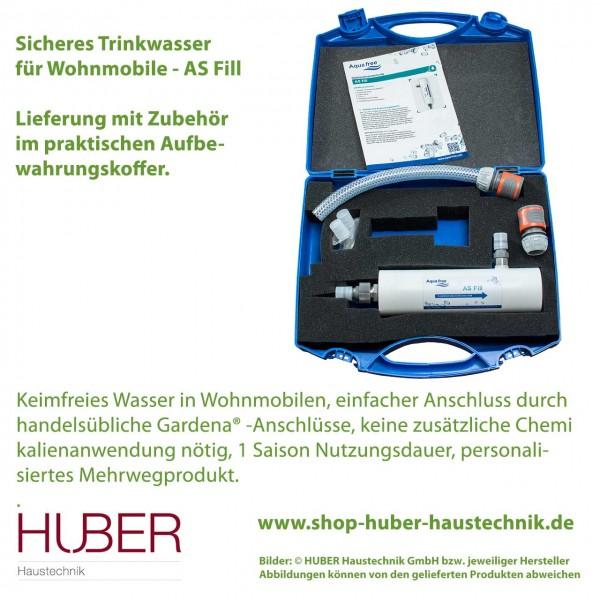 Sicheres Trinkwasser in Wohnmobilen - AS Fill - im praktischen Koffer mit Zubehör