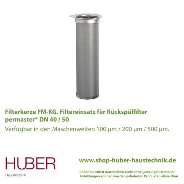 Filterkerze bzw. Filtereinsatz für Rückspülfilter permaster® DN 40 / 50 in versch. Maschenweiten