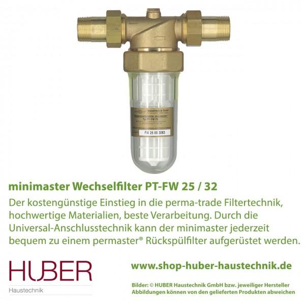 Wasserfilter PT-FW 25 / 32 minimaster