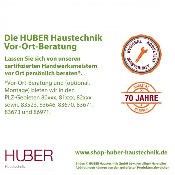 Vor-Ort-Beratung von HUBER Haustechnik in ausgewählten PLZ-BVereichen