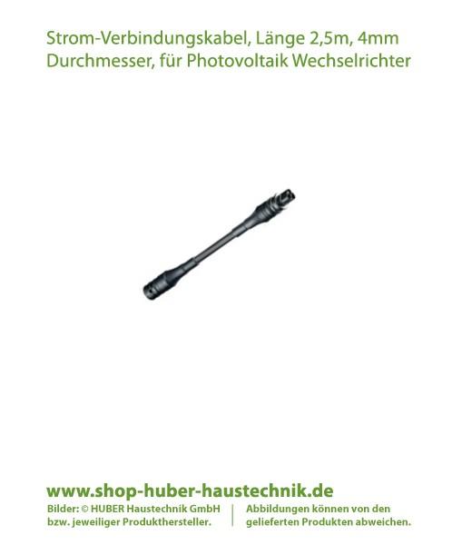 Strom-Verbindungskabel in der Länge 2,5 m für Photovoltaik Modul-Wechselrichter, AEconversion in Kommunikationsart RS485