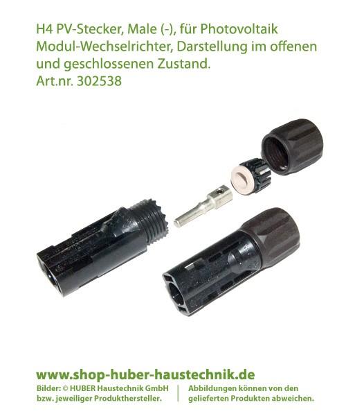 Helios H4 Amphenol Stecker, Male (-) für Photovoltaik Wechselrichter