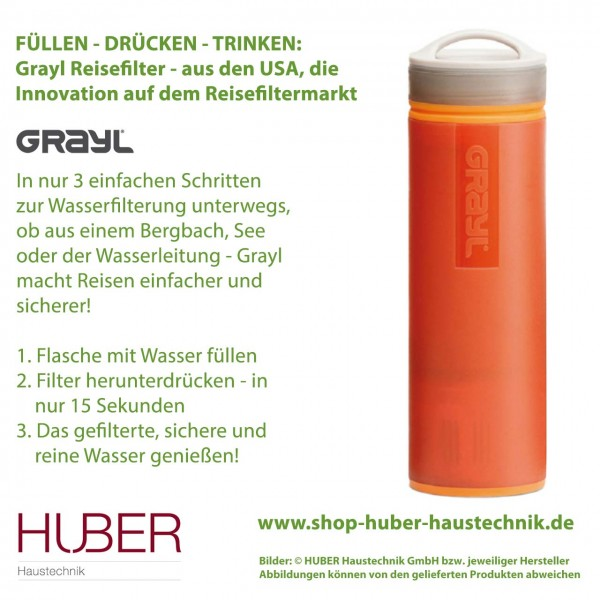 Grayl Ultralight Reisewasserfilter - zur einfachen Wasserfilterung unterwegs