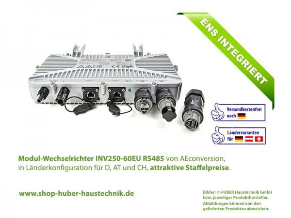 Modul-Wechselrichter INV250-60 EU RS485, 250 Watt, 60 Volt, 50 Hz, im Haustechnik-Shop von HUBER