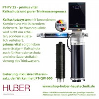 primus vital mit Wirkeinheit - purer Trinkwassergenuss und umweltfreundlicher Kalkschutz