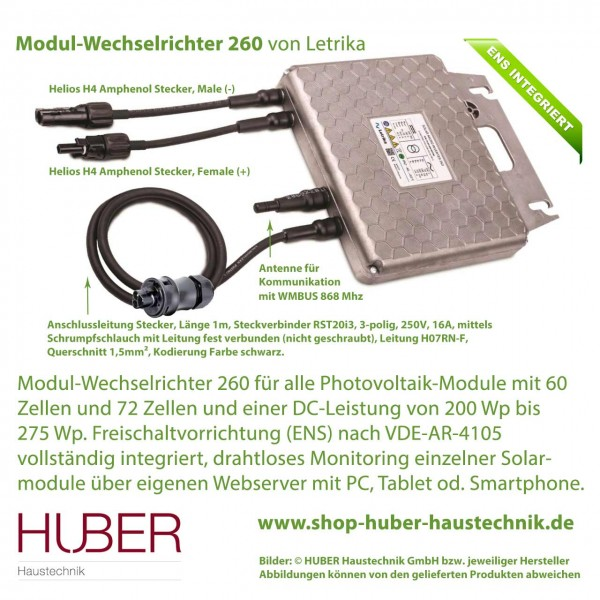 Modul Wechselrichter Letrika 260 mit integriertem ENS