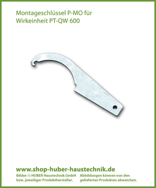 Montageschlüssel P-MO für Wirkeinheit PT-QW 600, perma-trade