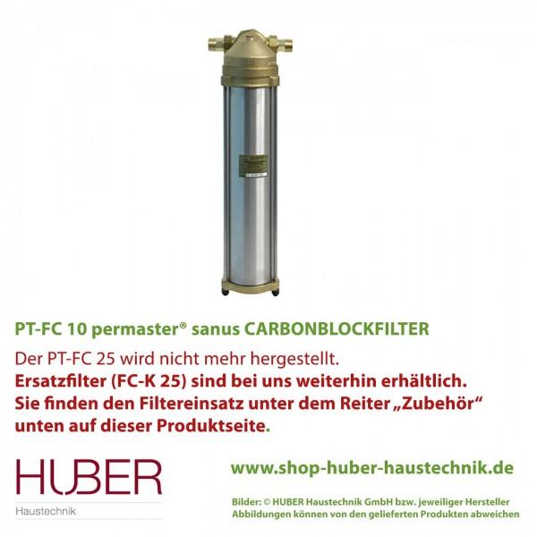PT-FC 25 permaster® sanus CARBONBLOCKFILTER