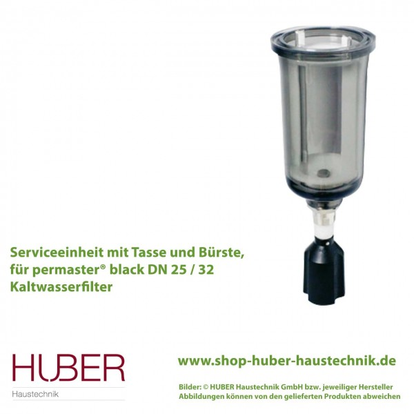 Serviceeinheit mit Tasse und Bürste für permaster® black, Kalt- und Warmwasserfilter