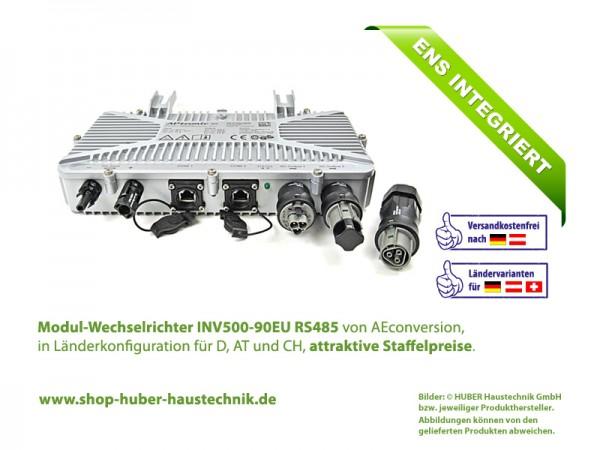 Modul-Wechselrichter INV500-90 EU RS485, 500 Watt, 90 Volt, 50 Hz, im Haustechnik-Shop von HUBER